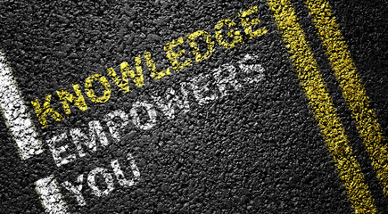 Knowledge Empowers You on the road