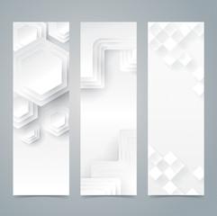 Collection banner design, white background.