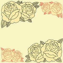 Roses frame set 07