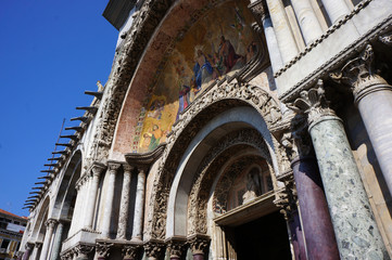 Arch of the Cathedral of St. Mark in Venice