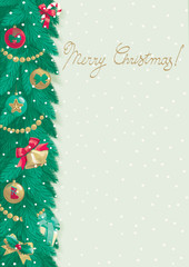Vector Merry Christmas background at retro style