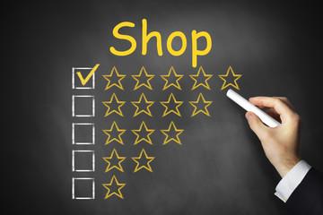 black chalkboad shop ranking