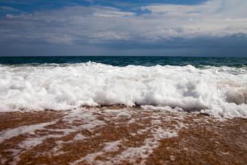 Foamy wave.