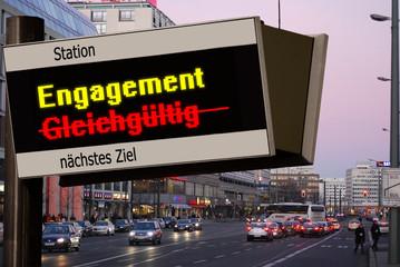Anzeigetafel 5 - Engagement