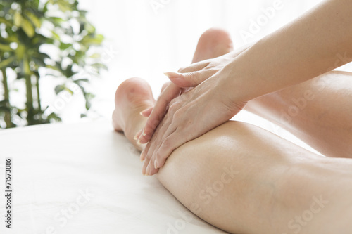 poster of Esthetician to massage the calf