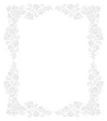Ornate vector floral frame in Russian
