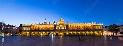 obraz PCV Rynek w nocy, Polska, Kraków.