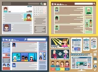 Social Networks. Blogs. Internet communication. vector