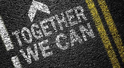 together we can on the asphalt road