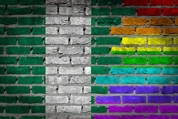 Dark brick wall - LGBT rights - Nigeria