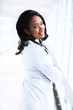 african american female pediatric nurse in modern office