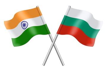 Flags: India and Bulgaria