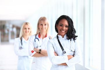 african american female pediatric nurse in modern hospital