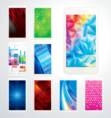 Collection of technology screen background, phones wallpaper.