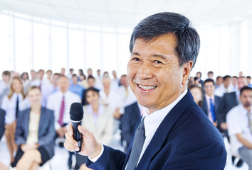 Asian Business Man as a Leader