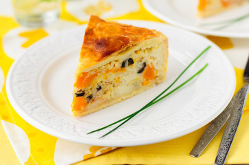 Greek Rice, Pumpkin, Kalamata Olive and Feta Pie