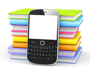 Contemporary Mobile Phone with Books