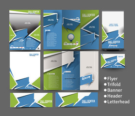 Call Center Stationery Set Template