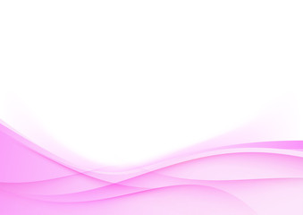 Pink wedding background smooth swoosh waves