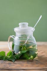 Nettle and freshly made nettle tea