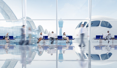Group Of Business People In The Airport