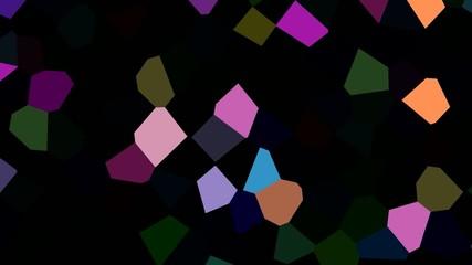 Rotating multicolored shards