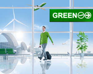Green Business People in the Airport