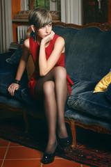 Elegant short hair model