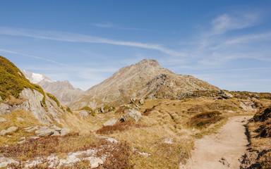 Bettmeralp, Dorf, Moosfluh, Bettmerhorn, Alpen, Schweiz