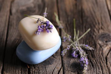 Lavender and solid soap