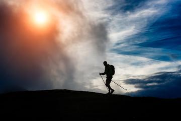 silhouette trekking