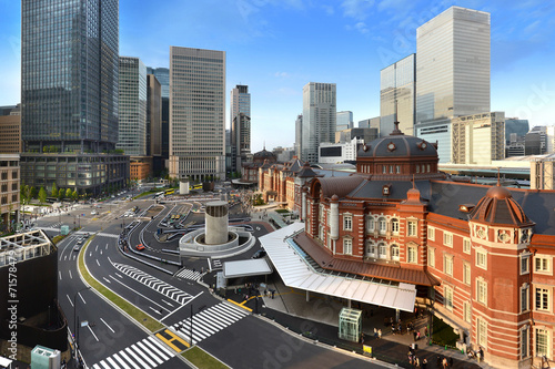 Foto op Canvas Treinstation 東京駅