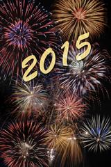 Neujahr 2015 mit Feuerwerk