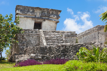 Tulum, archeological site in the Riviera Maya, Mexico. Site of a