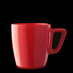 Cup over black