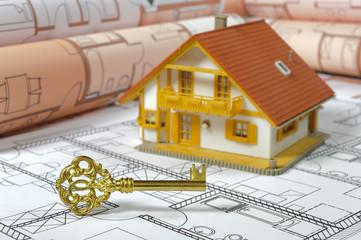 Haus Hausbau Schlüssel