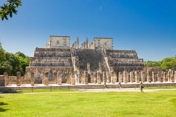 Temple of Warriors in Chichen Itza complex, Yucatan, Mexico