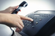Leinwanddruck Bild - Service-Hotline