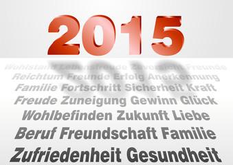 Neujahr und Wünsche für 2015