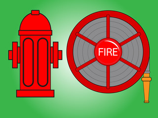 Fire hose reel and Fire hydrant