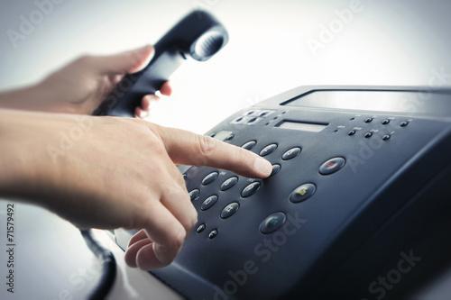 Leinwanddruck Bild Service-Hotline