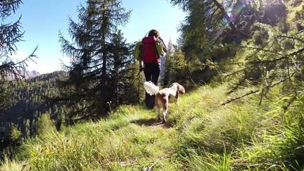 trekking con cane