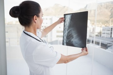 Doctor checking a patients x ray