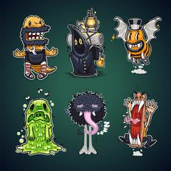Cartoon Characters Set
