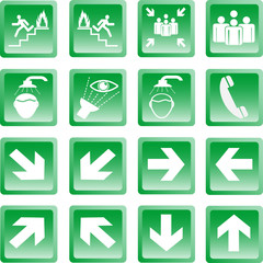 Green Safty Sign Botton1