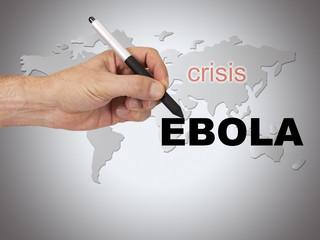 hand writing Ebola