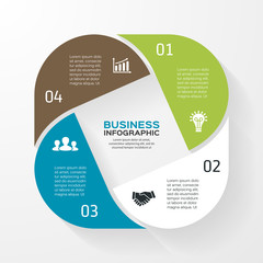 Infographic, diagram, presentation 4 options