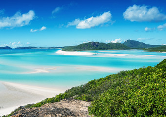 Whitehaven beach in the Whitsunday archipelago, Australia