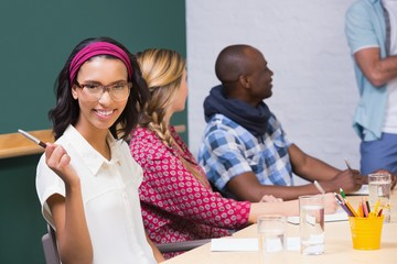 Creative business people in meeting