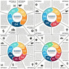 Infographic, diagram, presentation, graph set